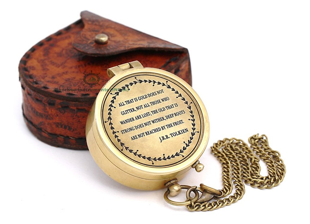 4th anniversary Gifts for Husband Engraved Compass