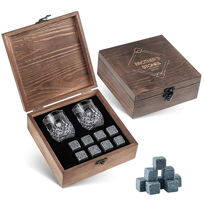 4th anniversary Gifts for Husband Whiskey Stones Set
