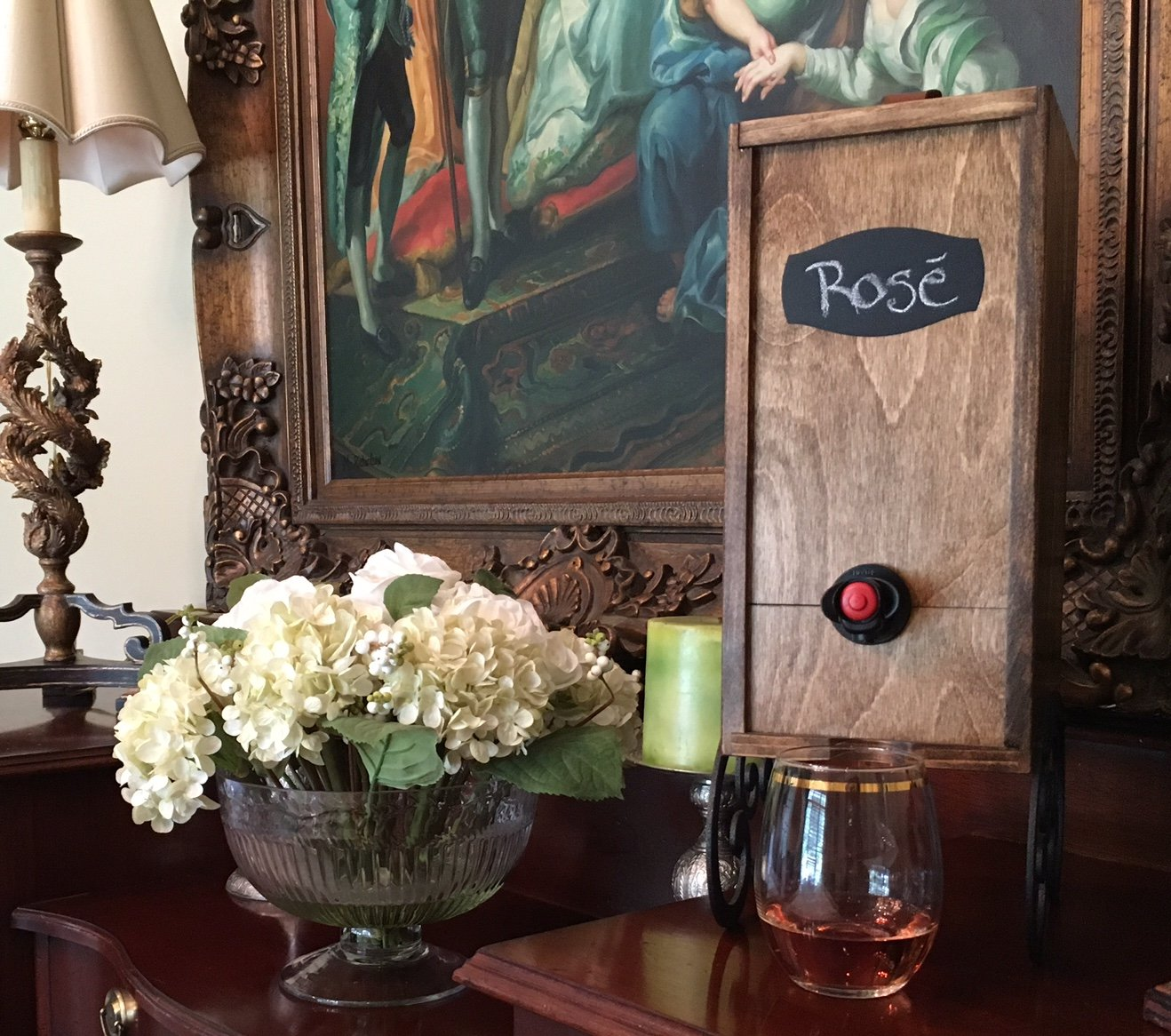 Box Wine Dispenser fifty birthday gift idea for mother