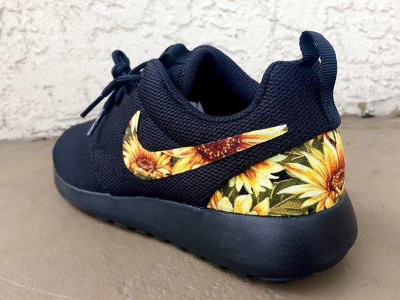 Sunflower themed coll gifts -  Custom Sunflower Nike Roshe