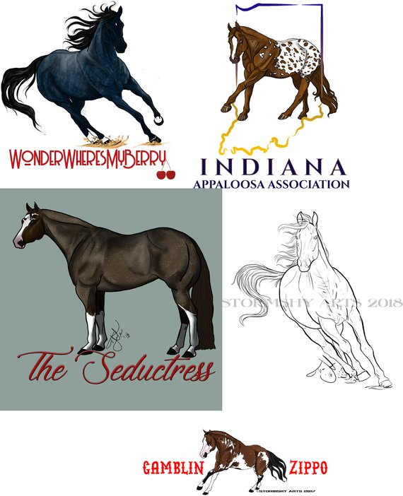 Gift Ideas for Horse Lovers and Equestrians Personalised Digital Art