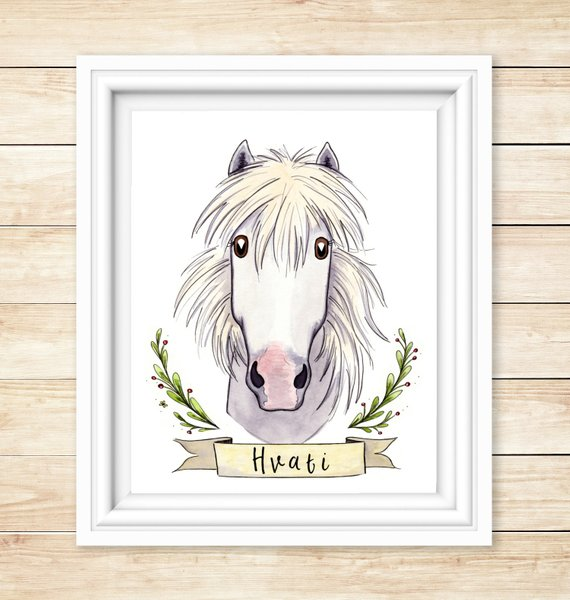 Gift Ideas for Horse Lovers and Equestrians Custom Cartoon Horse Portrait