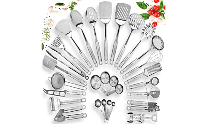 Gifts for Culinary Students Stainless Steel Kitchen Utensil Set