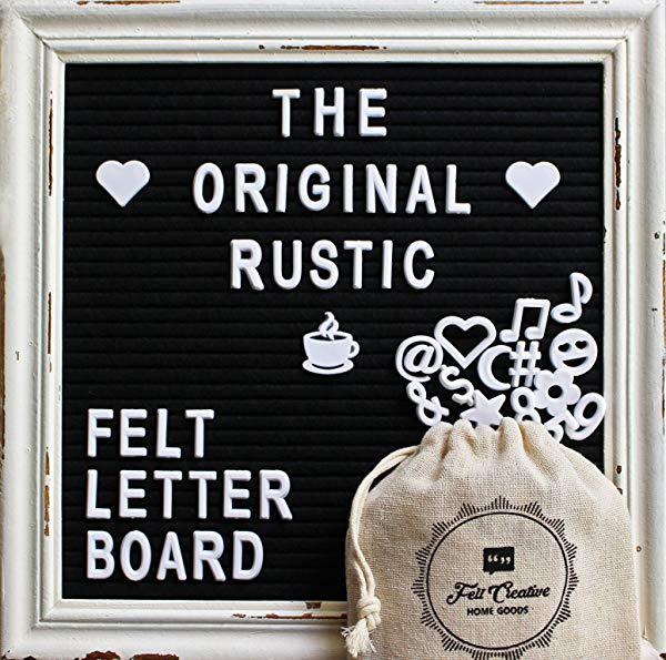 Gifts for secretaries Black Felt Letter Board