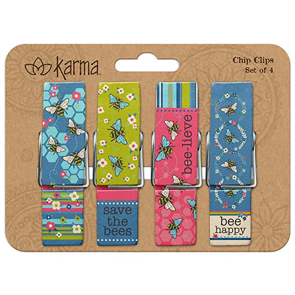 Gifts for secretaries Colorful Bee Chip Clips
