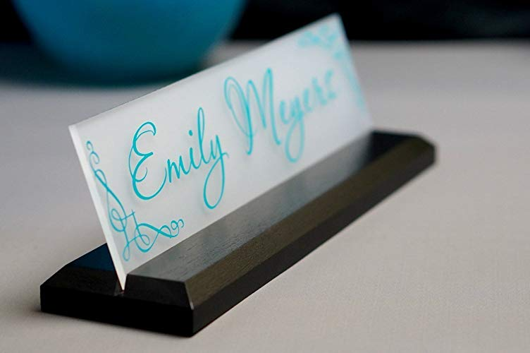 Gifts for secretaries Personalized Name Plate for Desk