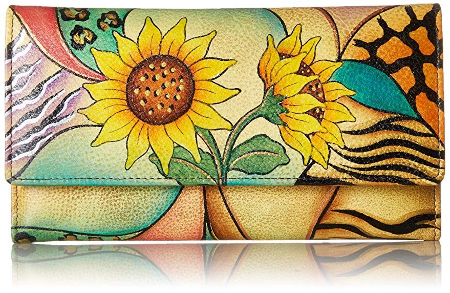 Sunflower gift ideas: Hand Painted wallet