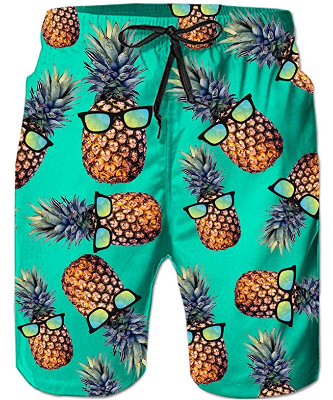 Pineapple gifts swim trunks