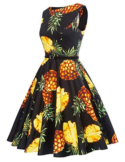 Vintage Pineapple themed Dress