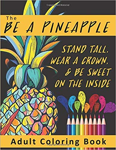 Gift Pineapple & Tropical Paradise Themed Coloring Pages