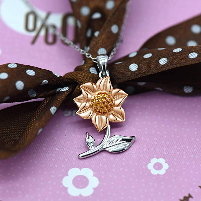 Sunflower themed gift Necklace
