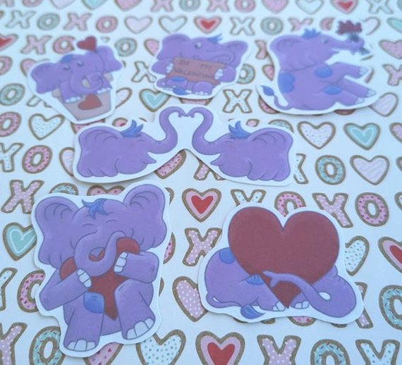 Elephant gifts stickers
