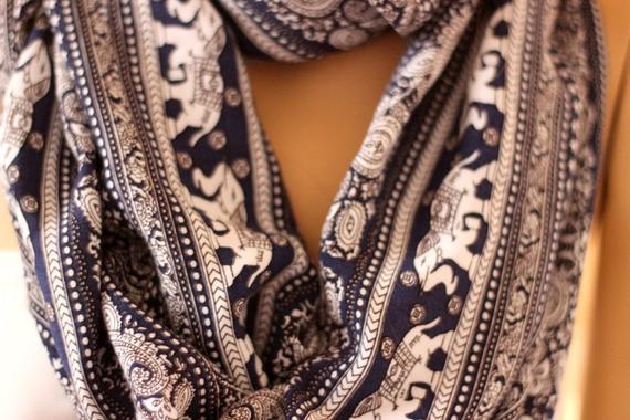Elephant themed scarf