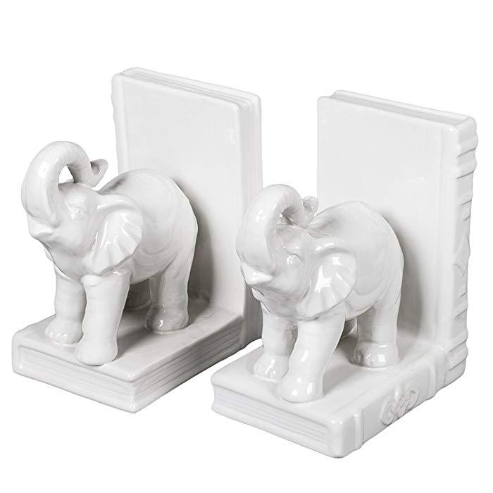 Gift idea Elephants Bookend Set