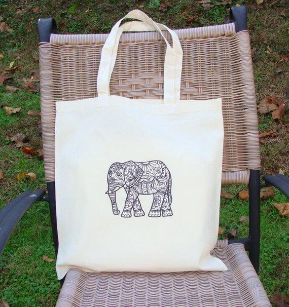 Elephant themed Tote Bag