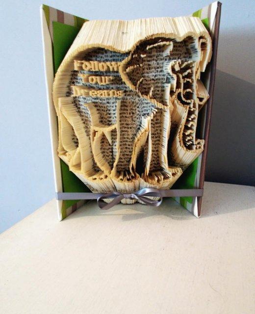 Elephant gifts Folded book