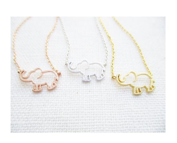 Elephant gifts necklace