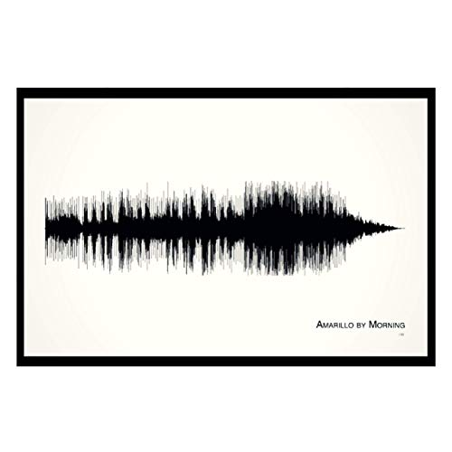 """Country music gift: """"Amarillo by Morning"""" Framed Soundwave Print"""
