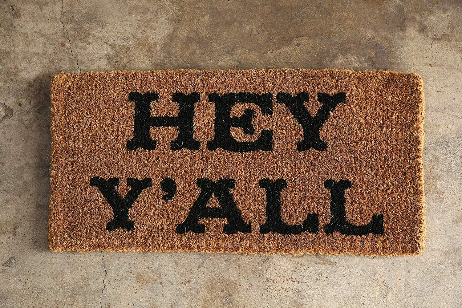 """Country music gift: """"Hey Y'all"""" Doormat"""