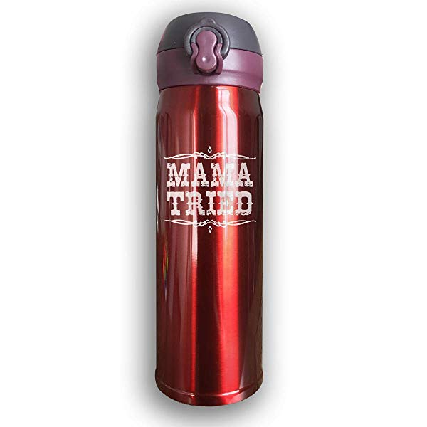 """Country music gift: """"Mama Tried"""" Stainless-Steel Thermos"""