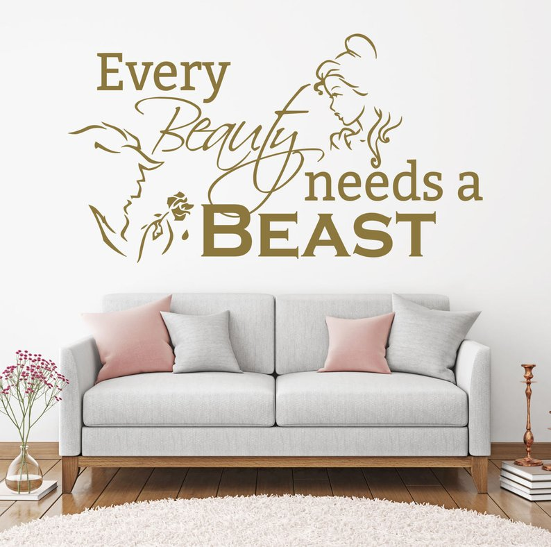 Beauty And The Beast Gift Idea Wall Decal