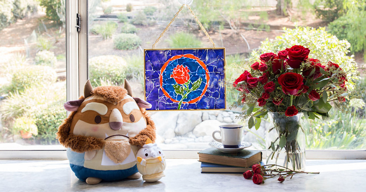 Beauty and the Beast Stained Glass Pasta Art