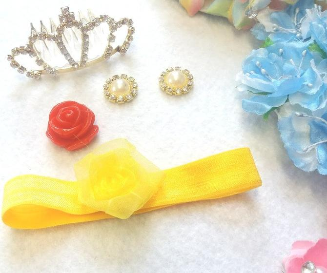 Beauty and the beast themed gift to girls Princess Belle Accessories Set