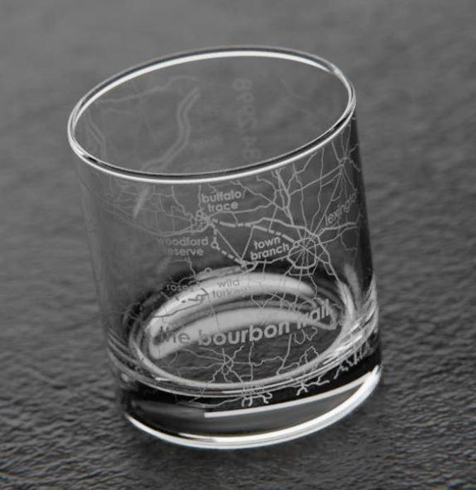 Birthday Gifts For 70 Year Old Man Bourbon Trail Maps Rocks Glass