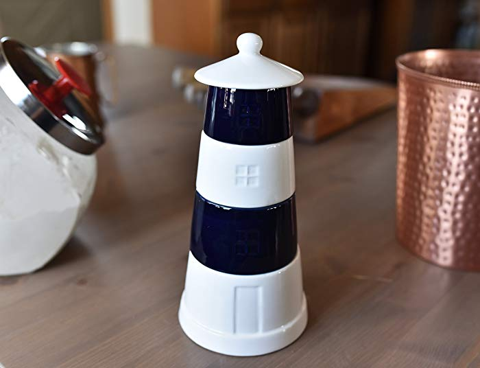 Lighthouse gifts: Ceramic Lighthouse Stackable Measuring Cups Set