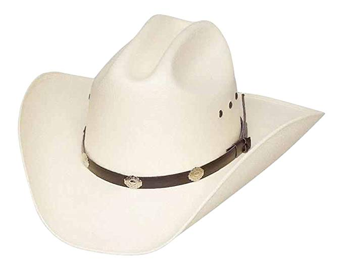 Country music gift: Classic Cattleman's Straw Cowboy Hat with Silver Conchos