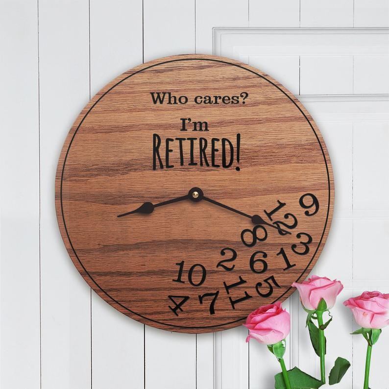 Police retirement gift idea: Funny clock