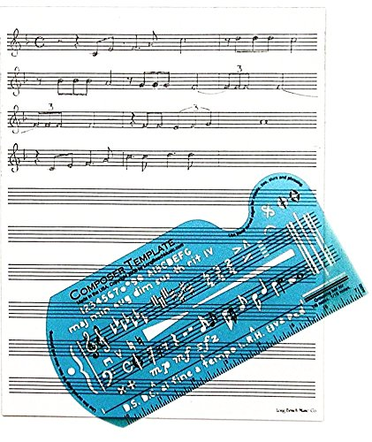 #7 Gift for Songwriters: Composing Template Stencil