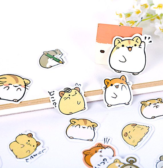 Gift idea: Cool Stickers for hamster pet owners