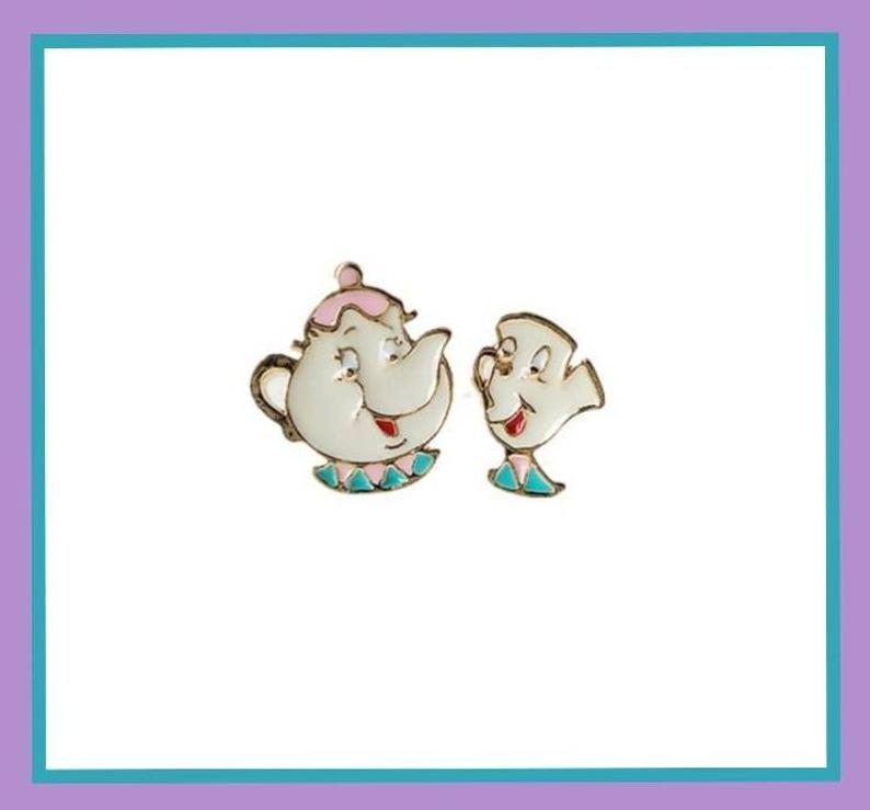 Mrs. Potts and Chip Earrings Beauty and the Beast gift