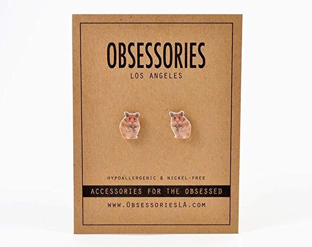 Hamster themed gift Earrings