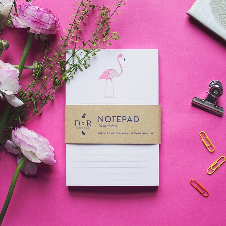 Flamingo gift ideas Notepad