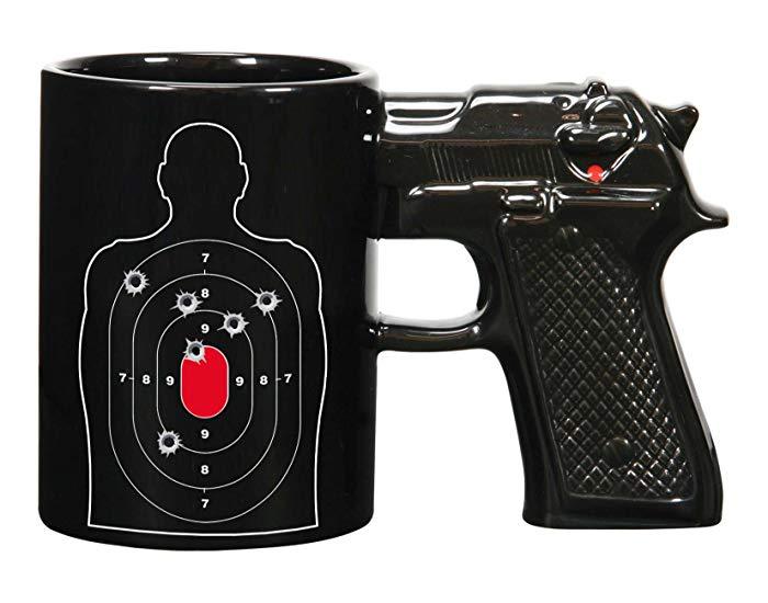 Gift for retiring police officer: Gun Coffee Mug