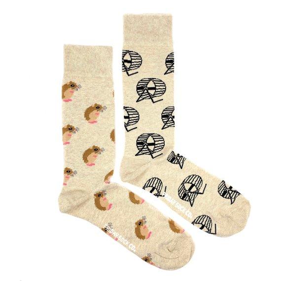 Hamster and Wheel mismatch socks cool gift for men