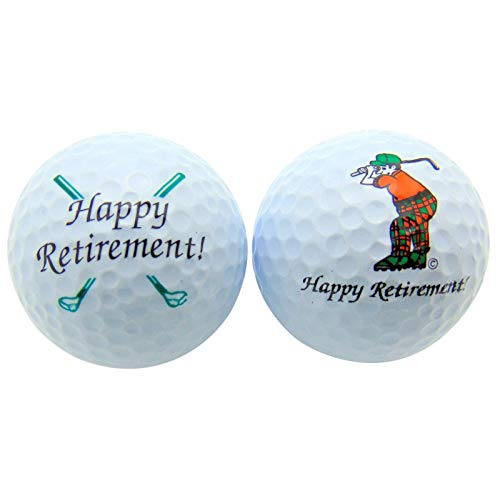 Retirement gifts for policemen: Happy Retirement Set of 2 Golf Ball