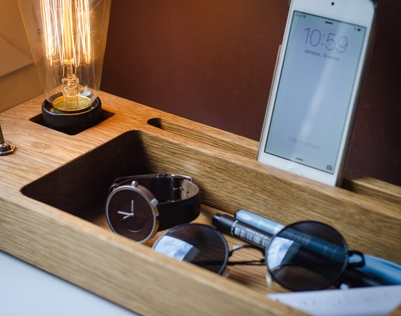 Housewarming gifts Recently-Divorced Man: Light, Docking Station and Holder in one