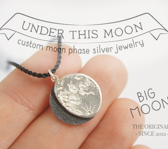 Lunar Phase Necklace great personalized gift