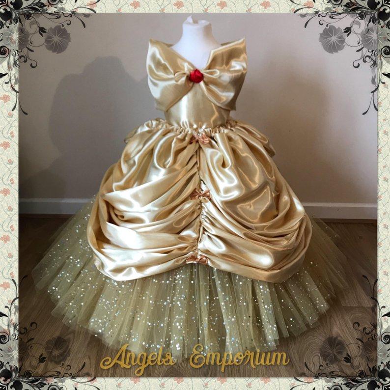Luxury Gold Belle Gown - Disney Belle Gifts