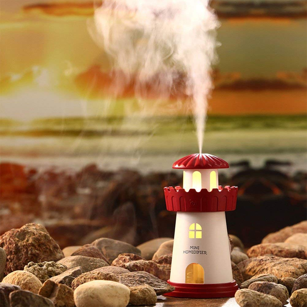 Lighthouse gift ideas Mini USB Charged Lighthouse Humidifier