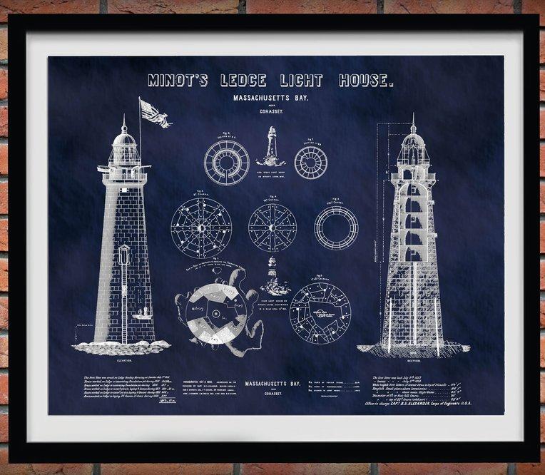 Minot's Ledge Lighthouse Blueprint
