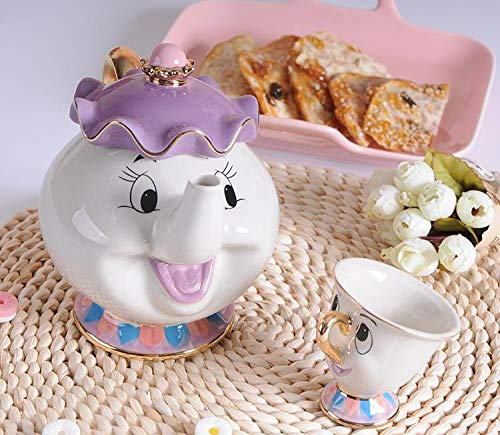 Mrs. Potts Chip Tea Pot & Cup set great gift for almost all occasions