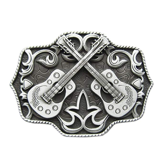 Country music gift: New Vintage Cross Guitar Belt Buckle