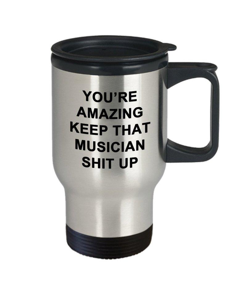 #17 Gift for Songwriters: Novelty Travel Mug