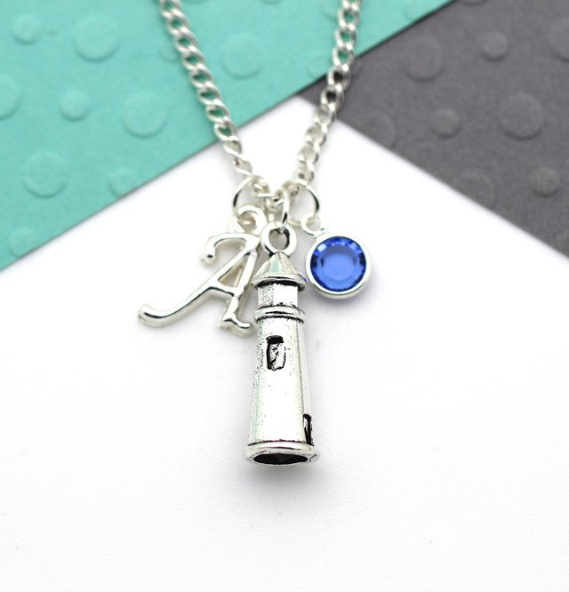 Personalized Lighthouse Charm Necklace