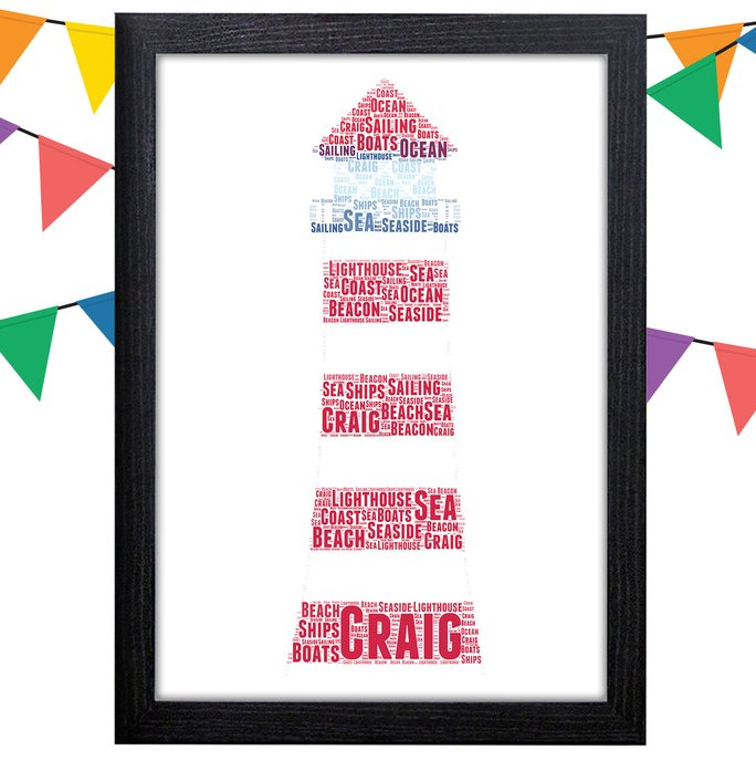 Lighthouse gift idea: Personalized Word Art