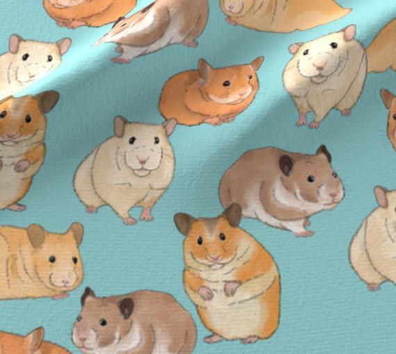 Gift ideas Pet Hamster Home Decor Cotton Fabric